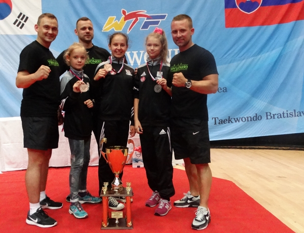 Trzy medale Taekwondo Jarocin w Bratysławie