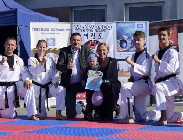 UKS Taekwondo Jarocin w pokazie dla DTA Technik