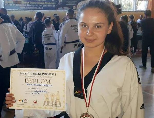 Matylda Marcinkowska w Pucharze Polski Poomsae