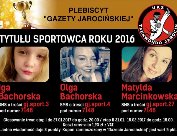 Plebiscyt Gazety Jarocińskiej Sportowca Roku 2016